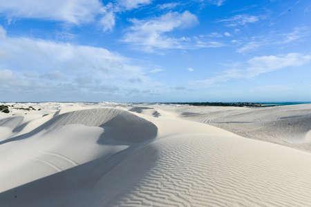 White sand dunes of Nilgen Nature Reserve. Located near Lancelin/Cervantes, north of Perth, Western Australia, Australia. Stock Photo