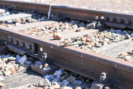 gauteng: Railroad tracks serving the Cullinan Diamond Mine in South Africa.