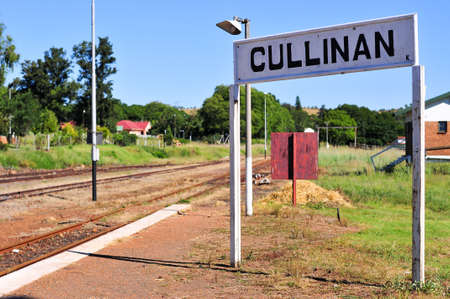 gauteng: Railroad station serving the Cullinan Diamond Mine in South Africa.
