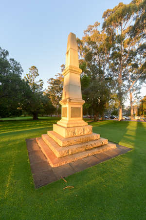 world war 1: Memorial to the 10th Light Horse. It was the only Western Australian cavalry regiment in World War 1. Stock Photo