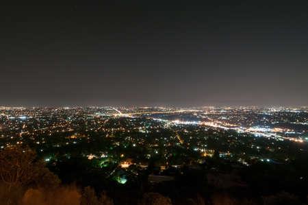 johannesburg: Johannesburg View from Northcliff Ridge at night. Stock Photo