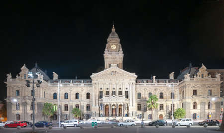 cape town: Cape Town, South Africa - March 24, 2012: Cape Town City Hall in Cape Town, Western Cape Province, South Africa at night.