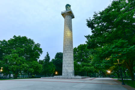 Prison Ship Martyrs Monument in Fort Greene, Brooklyn. The central Doric column marks the site of a crypt for more than 11,500 men and women, who were buried in a tomb near the Brooklyn Navy Yard.