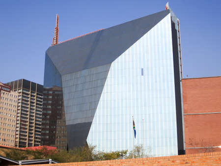 gauteng: 11 Diagonal Street skyscraper in Johannesburg, South Africa. It is designed to look like a diamond as it reflects different views of the Central Business District from each angle of the building. Editorial