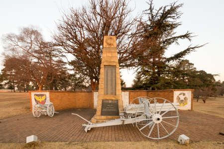 apartheid in south africa: World War II memorial in the Mpumalanga Province in Ermelo, South Africa.