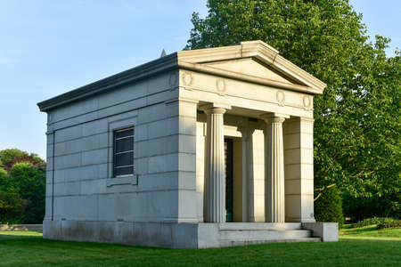 greenwood: Majestic tomb in the historic Greenwood Cemetery in Brooklyn, New York. Editorial