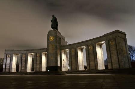 honoring: Soviet War Memorial in Berlin Tiergarten honoring Soviet Soldiers fighting Fascism.