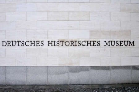 Berlin, Germany - Nov 6, 2010: The German Historical Museum. Devoted to German history and defines itself as a place of enlightenment and understanding of the shared history of Germans and Europeans.