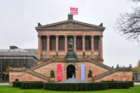 internationally: Berlin, Germany - Novembr 4, 2010: The Altes Museum. It is one of several internationally renowned museums on Museum Island in Berlin, Germany.