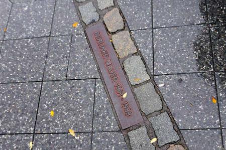 east berlin: Berlin Wall path in the former East Berlin, Germany.