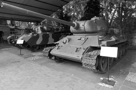 apartheid in south africa: Johannesburg, South Africa - December 9, 2012: Tank in the South African National Museum of Military History in Johannesburg. Editorial