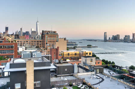 View across Manhattan Meatpacking District and Chelsea into Downtown, New York City. Stock fotó
