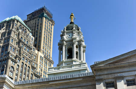 revival: Brooklyn Borough Hall in the Greek Revival style from the rear. City Hall of the former City of Brooklyn.