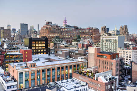 View across Manhattan Meatpacking District and Chelsea into Midtown, New York City. Stock fotó