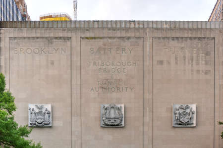 hugh: New York - July 15, 2015: The Hugh L. Carey Tunnel (formerly called the Brooklyn Battery Tunnel) in New York City, NY. The tunnel bridges Brooklyn and Manhattan.