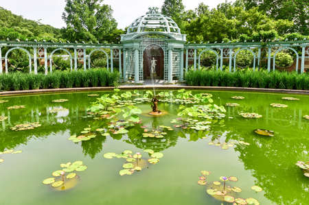 fitzgerald: Garden at Long Island Gold Coast Mansion at Old Westbury Gardens