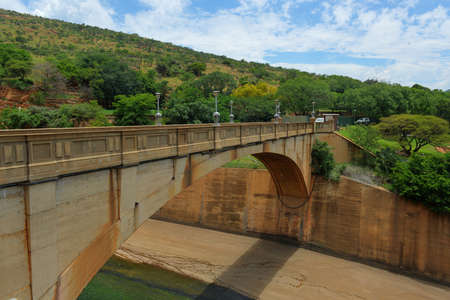 northwest africa: The Hartbeespoort Dam wall and tunnel in South Africa