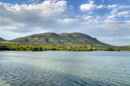 spillway: Crocodile River by Hartbeespoort Dam in South Africa Stock Photo