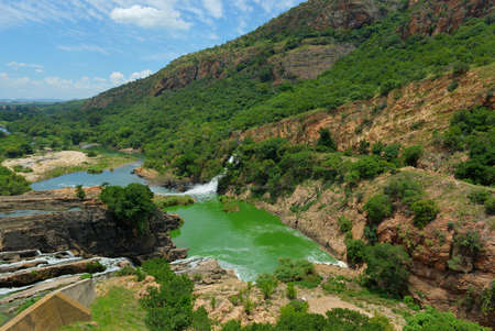 northwest africa: Waterfall of Crocodile River Hartbeespoort Dam in South Africa