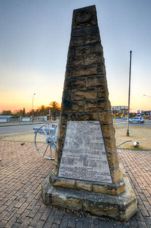 apartheid in south africa: World War I memorial in the Mpumalanga Province in Ermelo, South Africa. Editorial