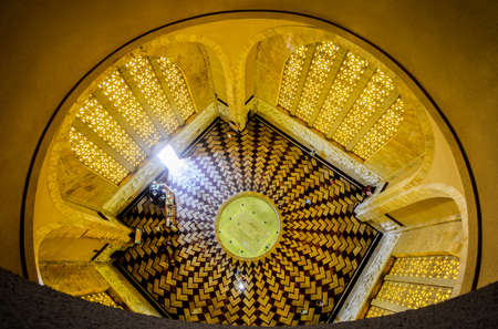 boer: The Voortrekker Monument interior, just south of Pretoria, South Africa. This massive granite structure is prominently located on a hilltop and was raised to commemorate the Voortrekkers.