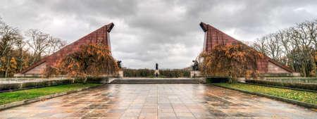treptow: Berlin, Germany - November 6, 2010: Soviet War Memorial commemorate the Battle of Berlin in 1945 where 80,000 soldiers died. It opened at 1949 in Treptower Park, Berlin, Germany.