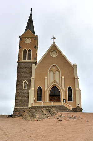 luderitz: Felsenkirche, an old German church in Luderitz, Namibia Stock Photo