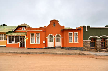 luderitz: German style colonial building in Luderitz, Namibia