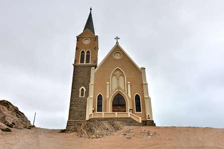 Felsenkirche, an old German church in Luderitz, Namibia Imagens