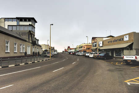 influenced: Cityscape of the German influenced town of Swakopmund in Namibia.