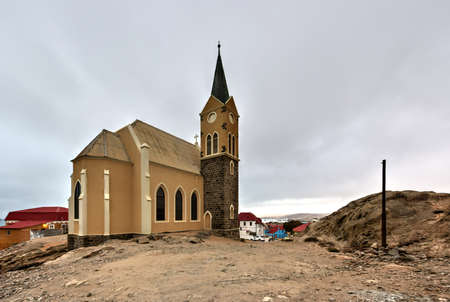 luderitz: Felsenkirche, an old German church in Luderitz, Namibia Editorial