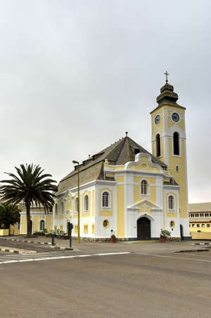lutheran: The German Evangelical Lutheran Church in Swakopmund, Namibia.