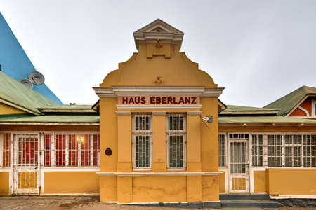luderitz: German style building - Haus Eberlanz in Luderitz, Namibia Editorial