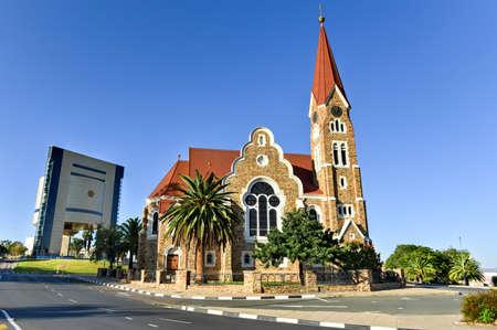 Christuskirche (Christ Church), famous Lutheran church landmark in Windhoek, Namibia Imagens - 45510756