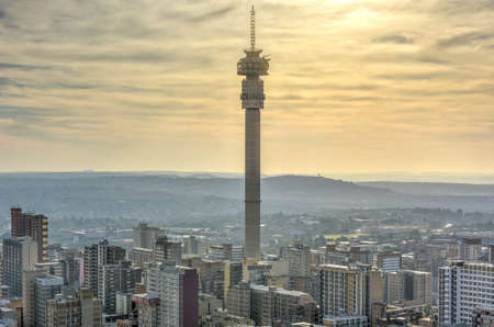 The Hillbrow Tower (JG Strijdom Tower) is a tall tower located in the suburb of Hillbrow in Johannesburg, South Africa. Archivio Fotografico
