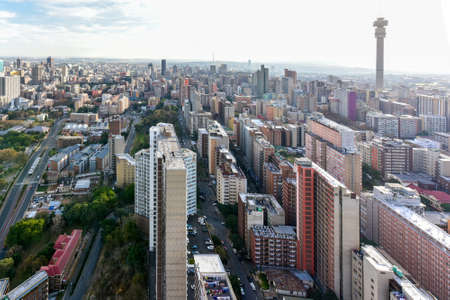 The Hillbrow Tower (JG Strijdom Tower) is a tall tower located in the suburb of Hillbrow in Johannesburg, South Africa. Banque d'images