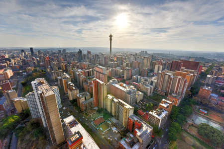 The Hillbrow Tower (JG Strijdom Tower) is a tall tower located in the suburb of Hillbrow in Johannesburg, South Africa. Standard-Bild