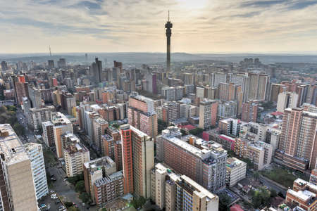 The Hillbrow Tower (JG Strijdom Tower) is a tall tower located in the suburb of Hillbrow in Johannesburg, South Africa. Stok Fotoğraf