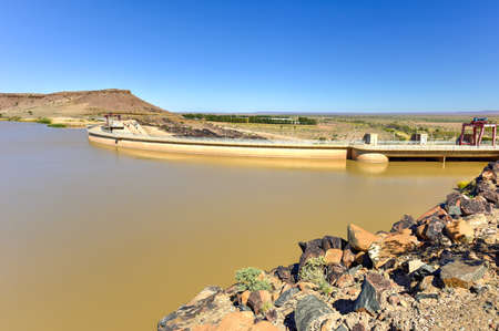 The Naute Dam is a dam outside of Keetmanshoop in the Karas Region of Namibia. It was built between 1970-1972 and was officially commissioned in September 1972.