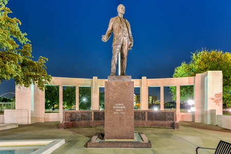 knoll: George Bannerman Dealey Monument in Dealey Plaza, Dallas, Texas.