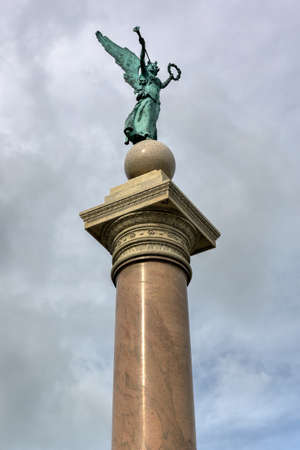 doric: Battle Monument, a large doric column monument located on Trophy Point at the United States Military Academy, West Point, NY. Editorial