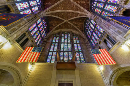 denomination: West Point, New York - September 26, 2015: West Point Cadet Chapel at the US Military Academy. The Cadet Chapel at the United States Military Academy is a place of Protestant denomination worship.