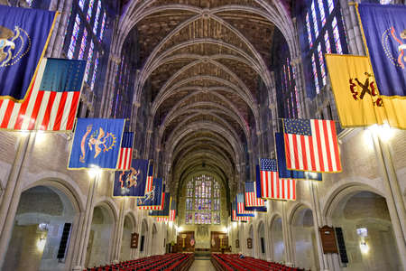 church building: West Point, New York - September 26, 2015: West Point Cadet Chapel at the US Military Academy. The Cadet Chapel at the United States Military Academy is a place of Protestant denomination worship.