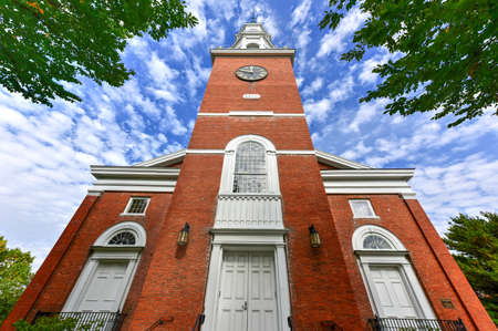 house of worship: First Unitarian Church was built in 1816 at the head of Church Street as the oldest house of worship in Burlington, Vermont, USA