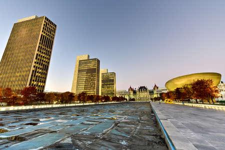plaza: Empire State Plaza in Albany, New York
