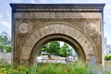 bolsa de valores: Bolsa de Chicago Arco Arquitectura. Uno de los pocos fragmentos de la supervivencia de la Bolsa de Chicago diseñada en 1893 y demolido en 1972.