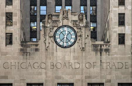 comercio: Chicago Board of Trade Building, Chicago, Illinois. El edificio Art Deco fue construido en 1930 y designada por primera vez un lugar de referencia de Chicago el 4 de mayo., 1977