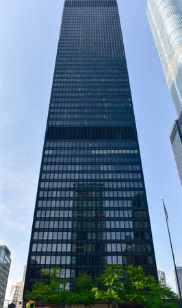 illinois river: Chicago, Illinois - September 5, 2015: 330 North Wabash (formerly IBM Plaza also known as IBM Building and now renamed AMA Plaza) is a skyscraper in downtown Chicago, Illinois. Editorial