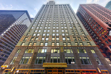 carbide: Chicago, Illinois - September 5, 2015: Carbide and Carbon Building in Chicago. The Carbide and Carbon building is an excellent example of Art Deco architecture.