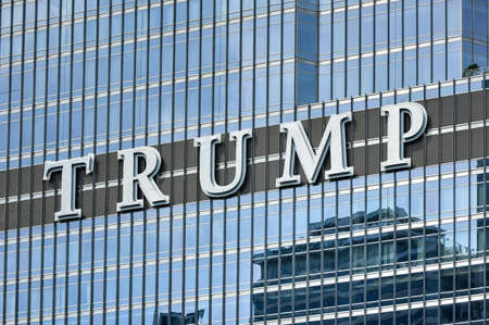 chicago: Chicago, Illinois - September 5, 2015: The Trump International Hotel & Tower in Chicago. The Trump Tower was completed in 2008.